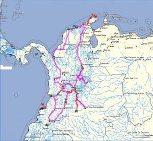 Vorläufiger Reiseplan Kolumbien