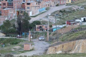 Versperrte Auffahrt zur Palo del Ahorcado