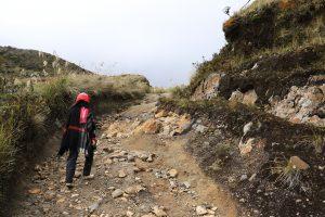 Vulkan Azufral, Aufstieg
