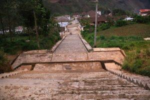 Fluchttreppe, Gemeinde María, nordliche Anden, Peru