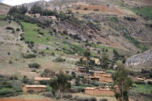 Dorf in den Anden der Region Junín, Peru