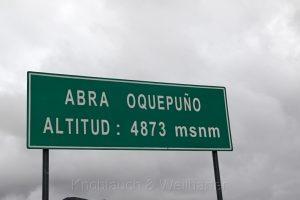 Abra Oquepuno, Peru